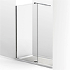 KUDOS Ultimate2 1700 x 900mm 8mm Glass Recess Shower Enclosure + Tray profile small image view 1