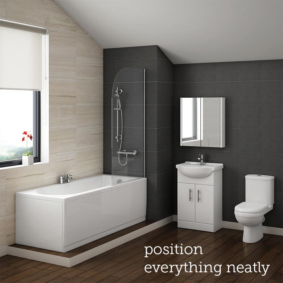 Shop our range of great value bathroom suites