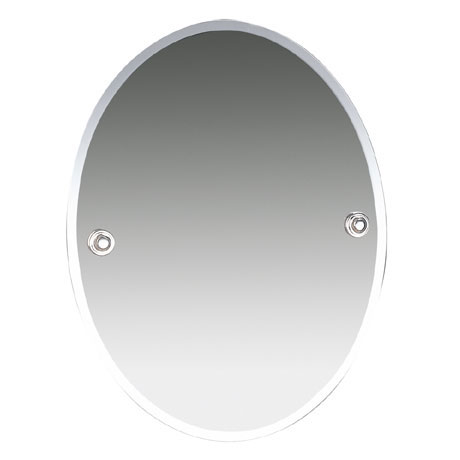 Miller - Oslo 400 x 505mm Oval Bevelled Mirror - 8000C