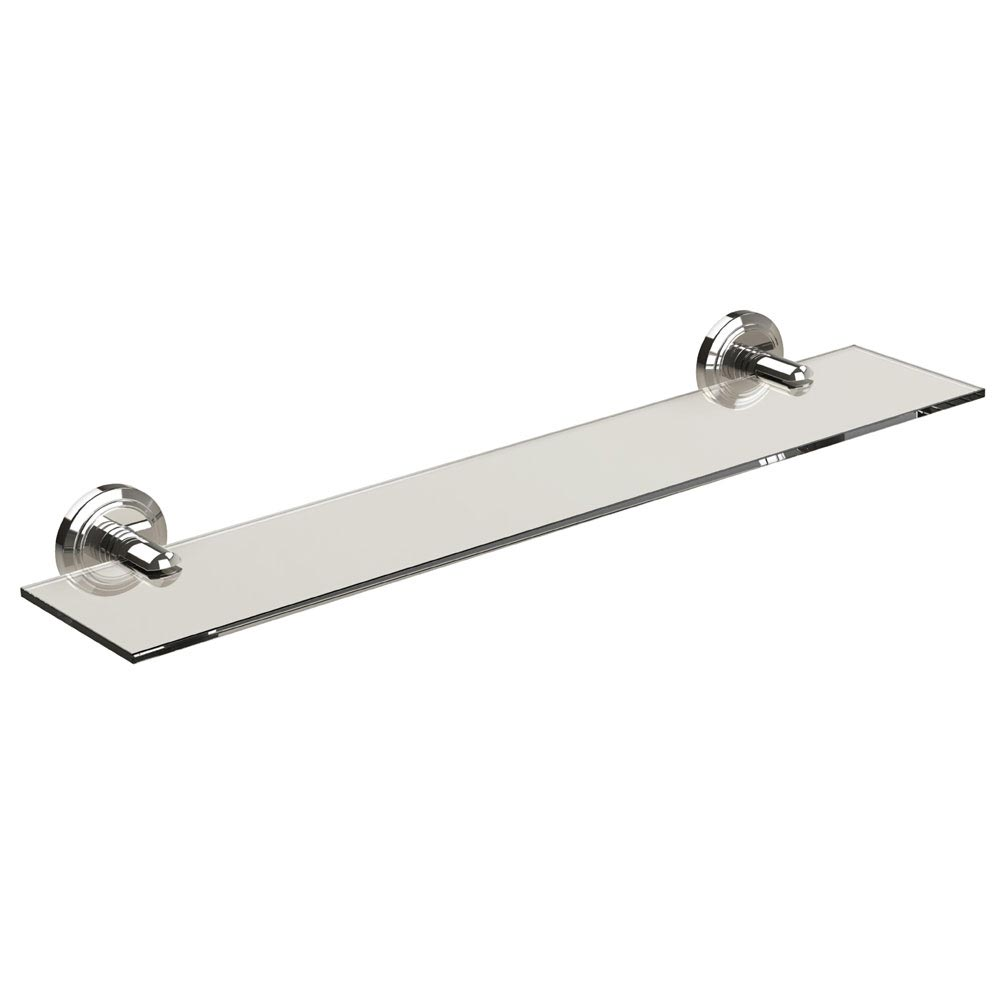Miller Oslo Polished Nickel Glass Shelf - 8002MN profile large image view 1