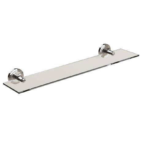 Miller Oslo Polished Nickel Glass Shelf - 8002MN