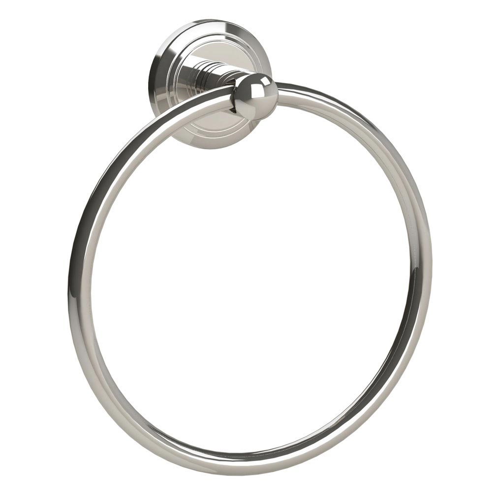 Miller Oslo Polished Nickel Towel Ring - 8005MN Large Image