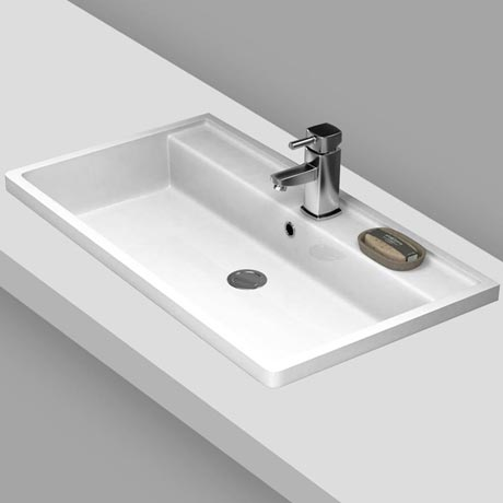 Premier Tribute Square Inset Basin - 800 x 450mm