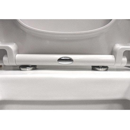 Euroshowers ONE Seat Short D-Shape Soft Close Toilet Seat - White - 88210 additional Large Image