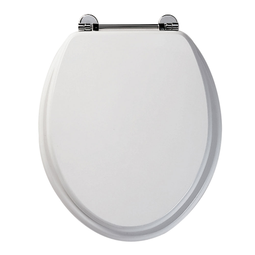 Roper Rhodes Axis Wooden Toilet Seat - White Large Image