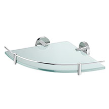 Orion Glass Corner Shelf - Chrome Medium Image