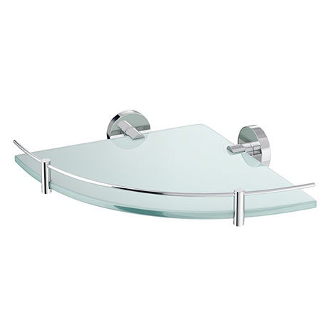 Orion Glass Corner Shelf - Chrome