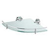 Orion Glass Corner Shelf - Chrome Small Image