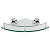 Orion Glass Corner Shelf - Chrome profile small image view 1