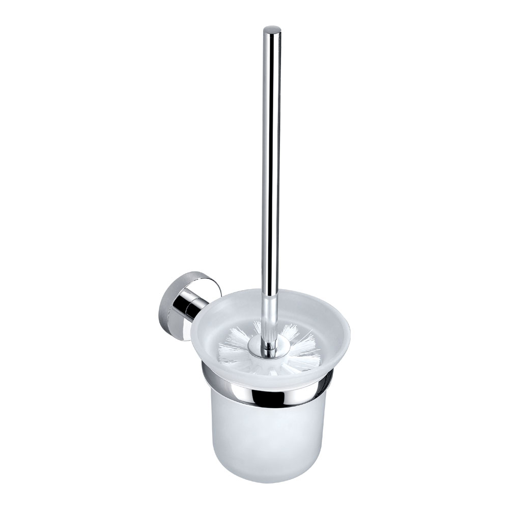 Orion Wall Mounted Toilet Brush & Holder - Chrome Large Image