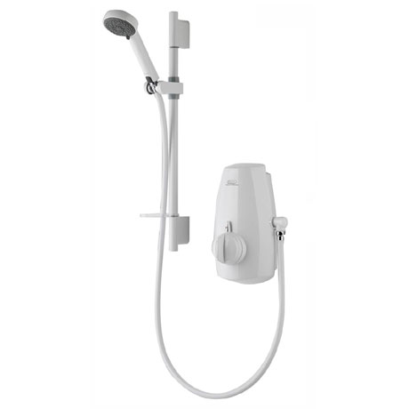 Aqualisa - Aquastream Thermo Power Shower with Adjustable Head - White - 813.40.20