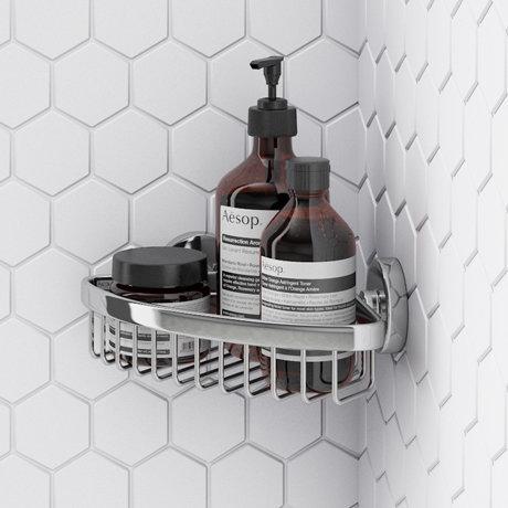 Orion Corner Soap Basket - Chrome