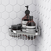 Orion Corner Soap Basket - Chrome profile small image view 1