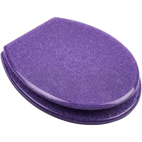Euroshowers - Purple Glitter Toilet Seat - 81850