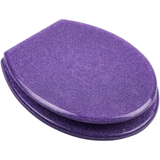 Euroshowers - Purple Glitter Toilet Seat - 81850 Large Image