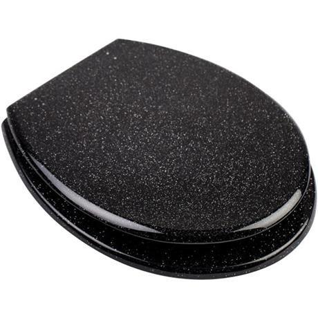 Euroshowers - Black Glitter Toilet Seat - 81870