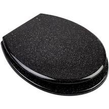 Euroshowers - Black Glitter Toilet Seat - 81870 Medium Image