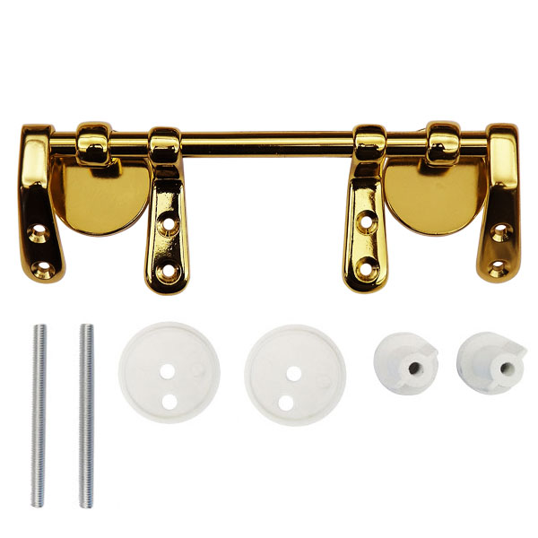 Brass Bar Hinge Set for Wooden Toilet Seats profile large image view 1
