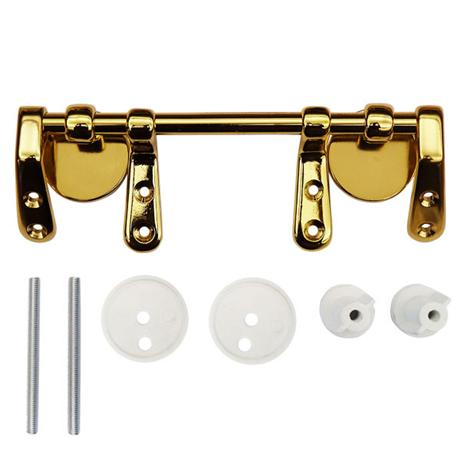 Brass Bar Hinge Set for Wooden Toilet Seats