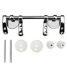 Chrome Bar Hinge Set for Wooden Toilet Seats Medium Image