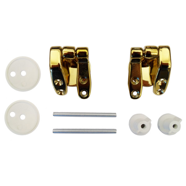 Universal Brass Hinge Set for Wooden Toilet Seats Large Image