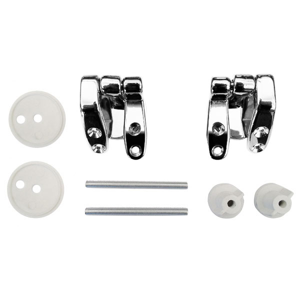 Universal Chrome Hinge Set for Wooden Toilet Seats Large Image