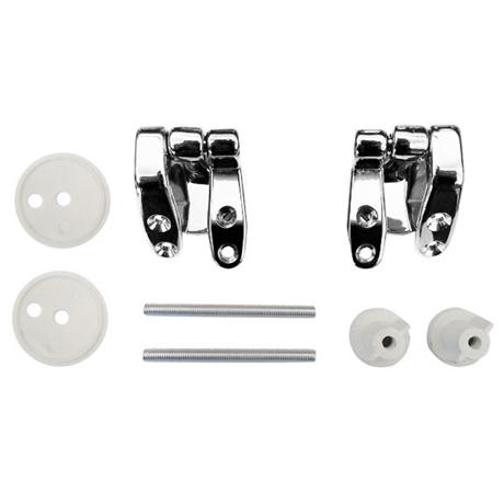 Universal Chrome Hinge Set for Wooden Toilet Seats