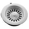 "1.5"" Basket Strainer Sink Waste - White - 82075180 profile small image view 1"