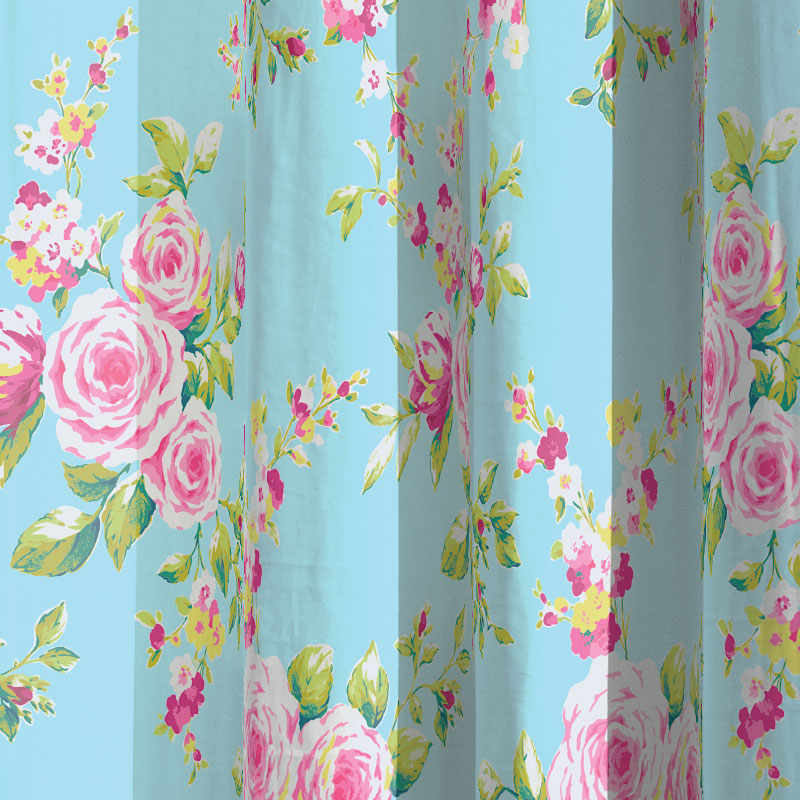 Catherine Lansfield Canterbury Floral Print Shower Curtain