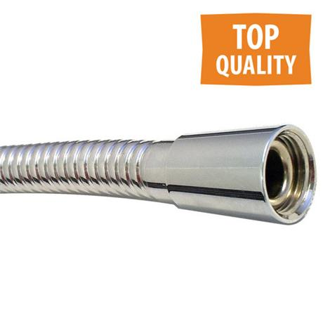 Euroshowers SuperLux Shower Hose - Chrome - 4 Size Options