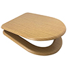 Euroshowers Oak D Shaped Soft Closing MDF Toilet Seat - 82792 profile small image view 1