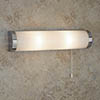 Searchlight Poplar Chrome 2 Light Wall Light with White Glass Tube - 8293CC profile small image view 1
