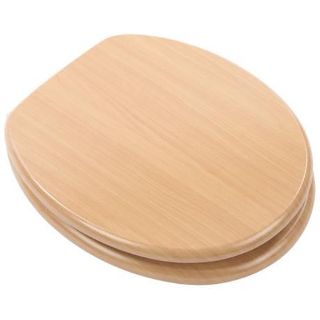 Euroshowers - Beech Wood Toilet Seat - 82983