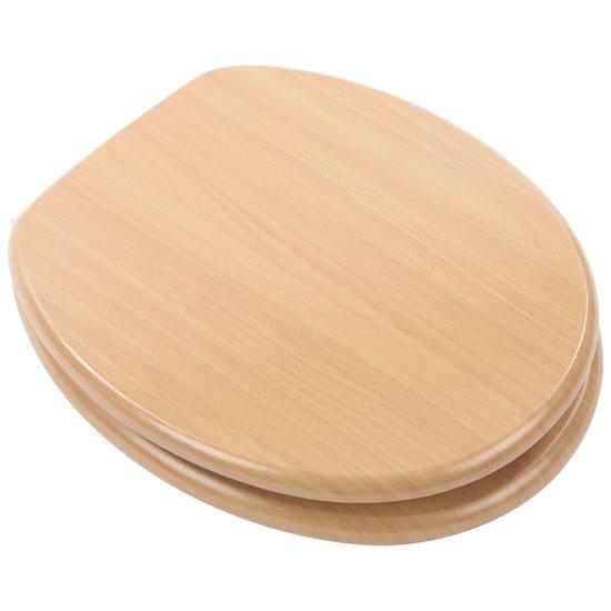Euroshowers - Beech Wood Toilet Seat - 82983 Large Image