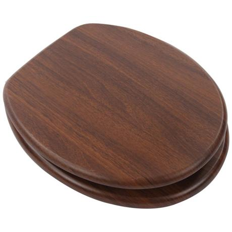 Euroshowers - Walnut Wood Toilet Seat - 82984