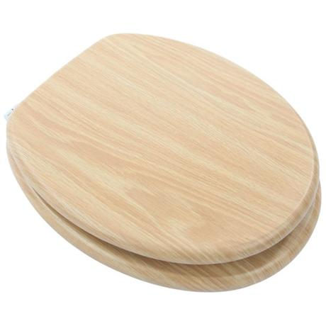 Euroshowers - MDF Oak Wood Toilet Seat - 82989
