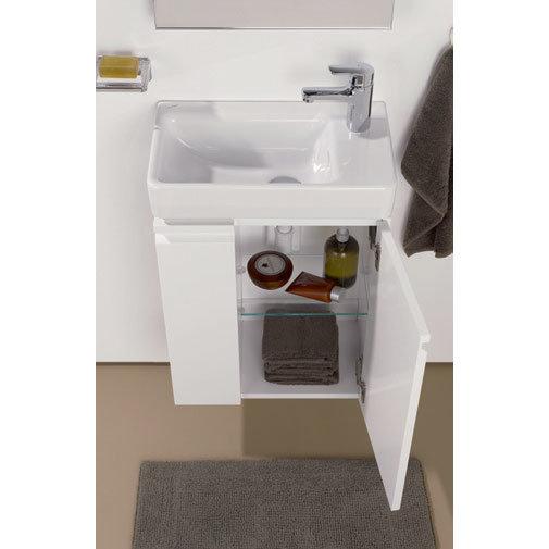 Laufen - Pro S Single Door Asymmetrical Vanity Unit and Basin - Left Hand Door - 4 x Colour Options profile large image view 2