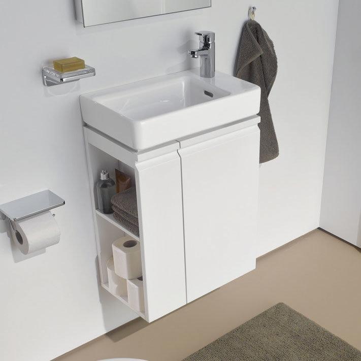 Laufen - Pro S Single Door Asymmetrical Vanity Unit and Basin - Left Hand Door - 4 x Colour Options profile large image view 3