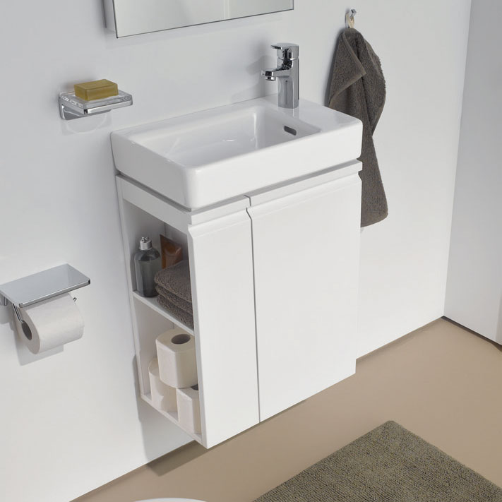 Laufen - Pro S Single Door Asymmetrical Vanity Unit and Basin - Right Hand Door - 4 x Colour Options Feature Large Image