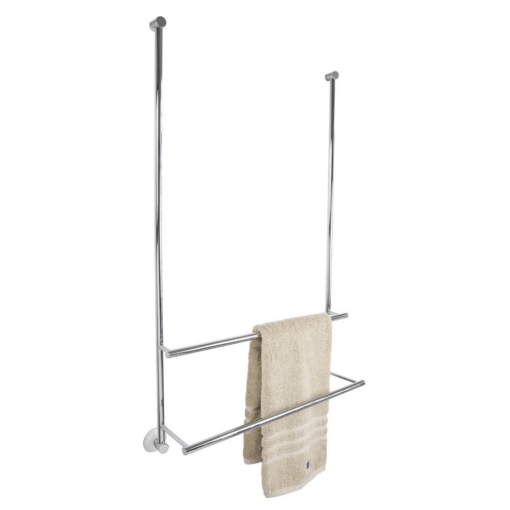 Miller - Classic Double Towel Rail for Shower Door and Screen - 830C profile large image view 1