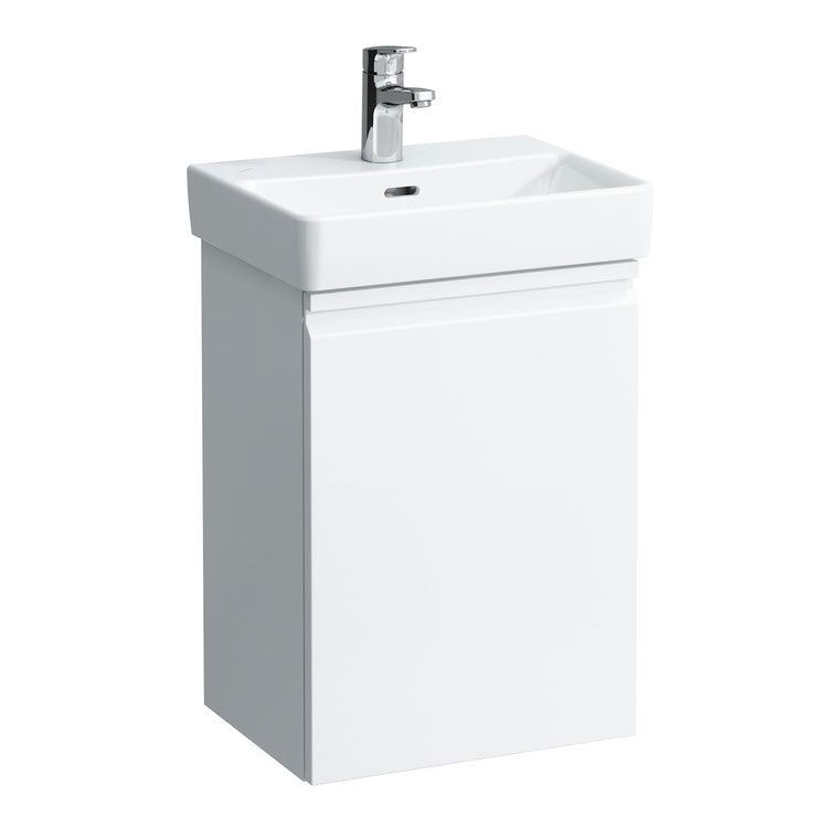 Laufen - Pro S Compact Single Door Vanity Unit and Basin - Left Hand Hinge - 2 x Colour Options Large Image