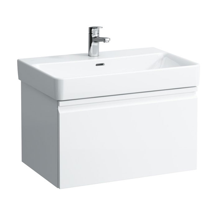 Laufen - Pro S 670mm 1 Drawer Vanity Unit and Basin - 2 x Colour Options profile large image view 1