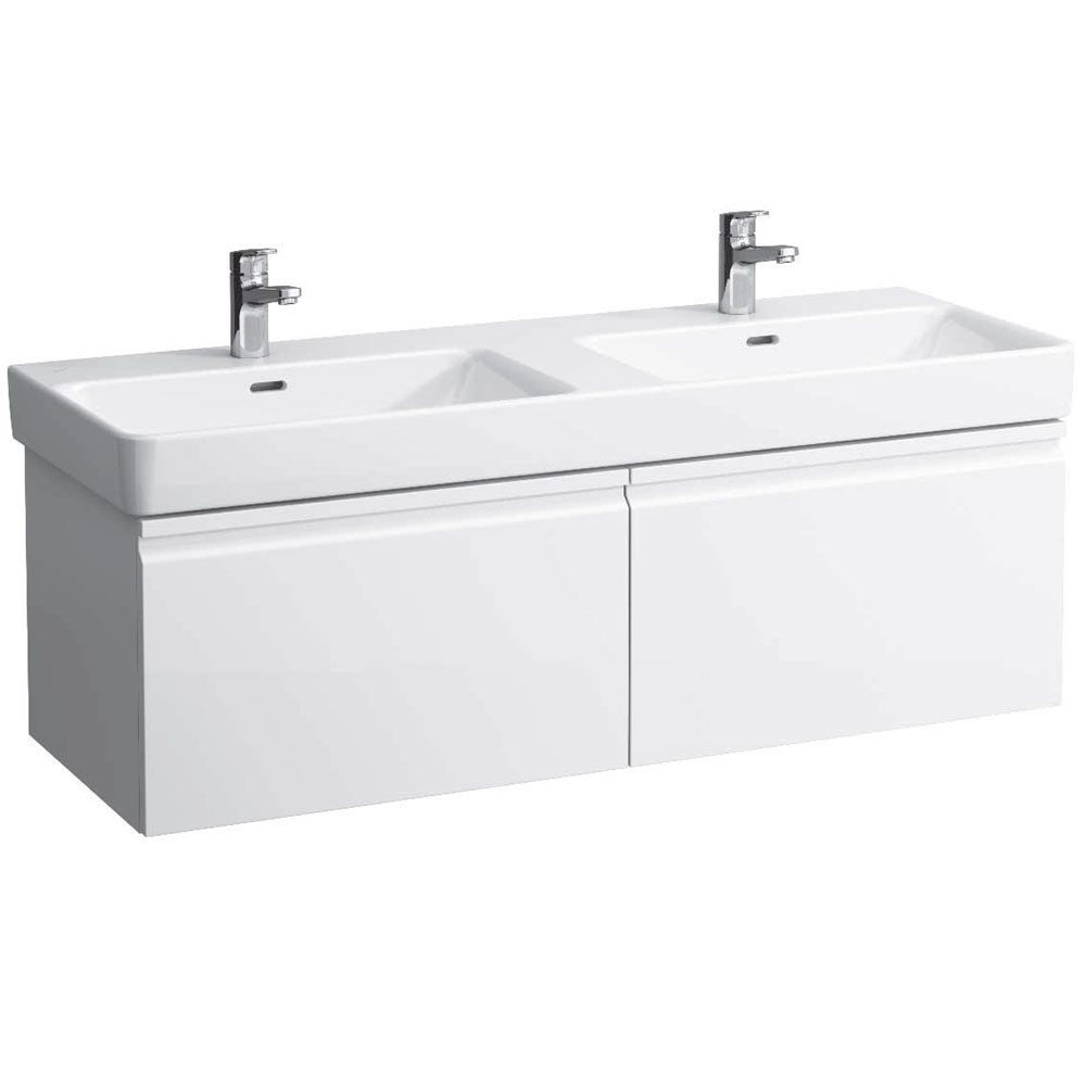 Laufen - Pro S 1260mm 2 Drawer Vanity Unit and Double Basin - 2 x Colour Options profile large image view 1