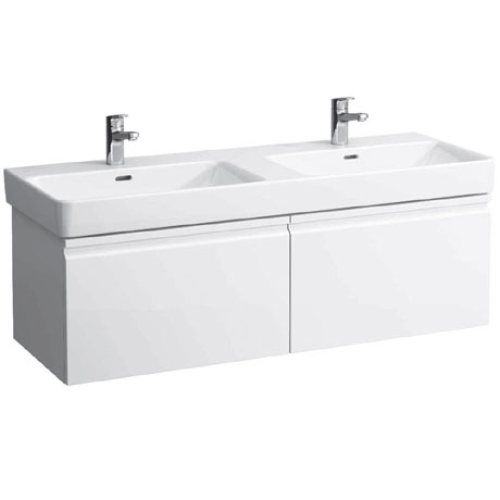 Laufen - Pro S 1260mm 2 Drawer Vanity Unit and Double Basin - 2 x Colour Options