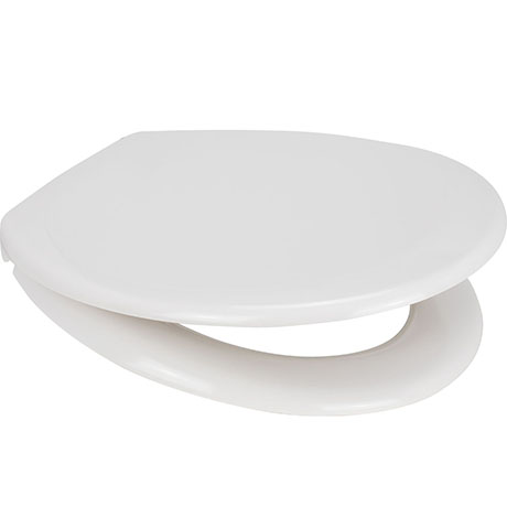 Euroshowers Pearl Anti-Bacterial Toilet Seat with Stainless Steel Hinges - 84210