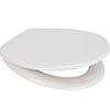 Euroshowers Pearl Anti-Bacterial Toilet Seat with Stainless Steel Hinges - 84210 profile small image view 1