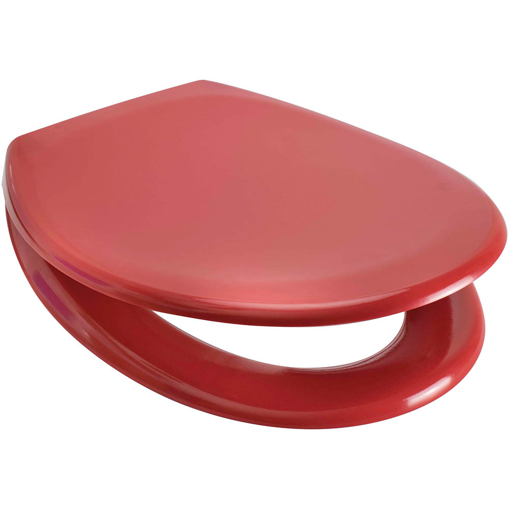 Euroshowers Rainbow Soft Close Toilet Seat - Red - 84480