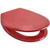 Euroshowers Rainbow Soft Close Toilet Seat - Red - 84480 profile small image view 1