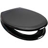 Euroshowers Rainbow Soft Close Toilet Seat - Black - 84490 profile small image view 1