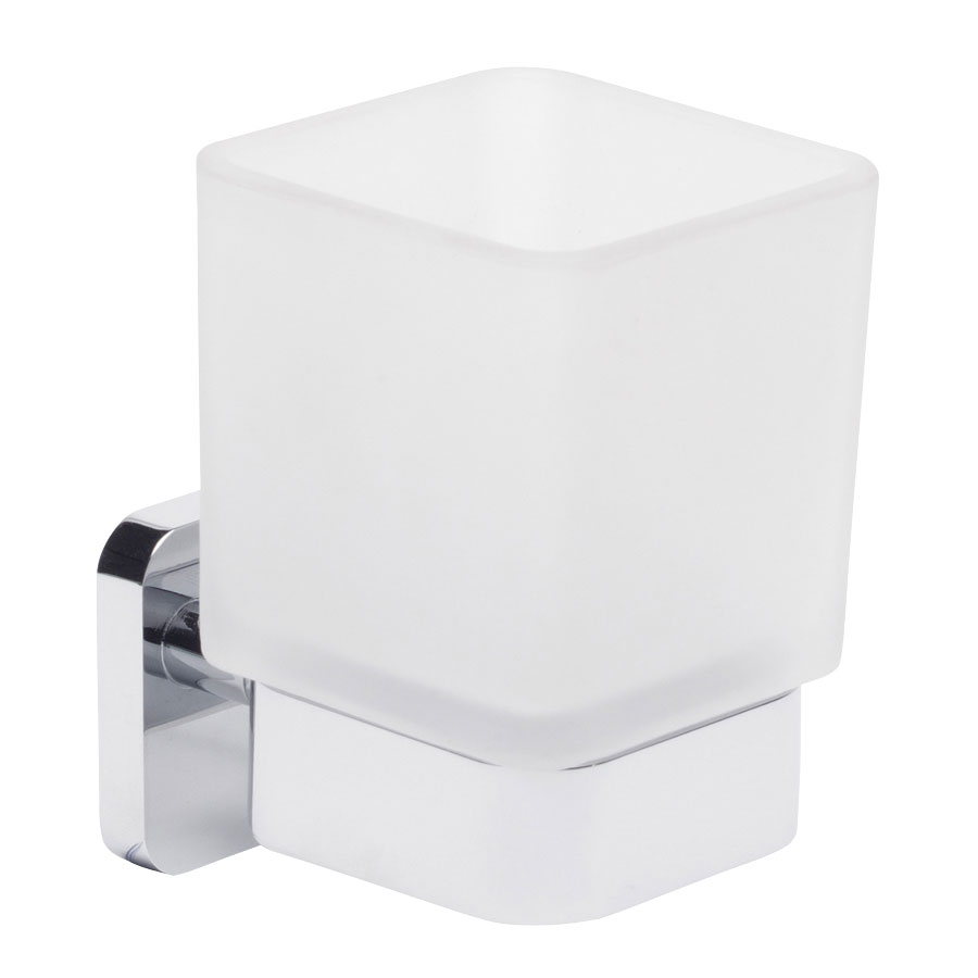 Roper Rhodes Ignite Frosted Glass Toothbrush Holder - 8516.02 Large Image